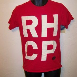 Red Hot Chili Peppers R.H.C.P. red t shirt